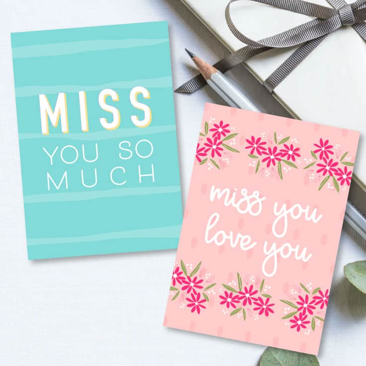 Printable I Miss You Cards