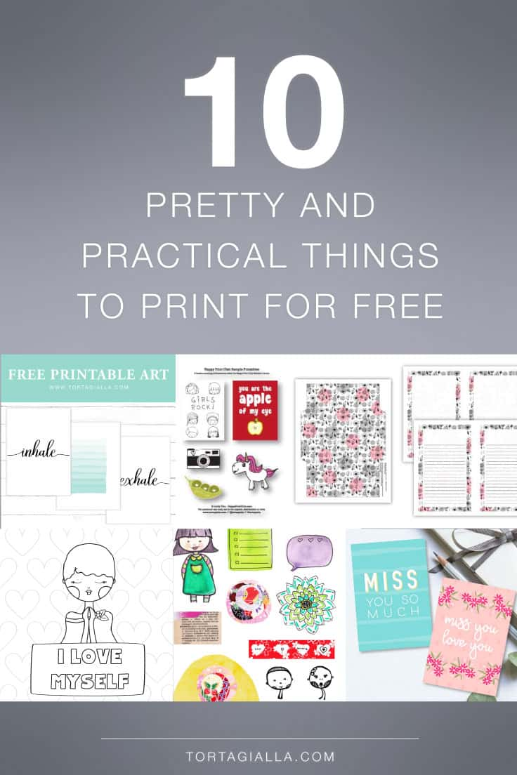 10 FREE PRINTABLE DOWNLOADS - a variety of free printables