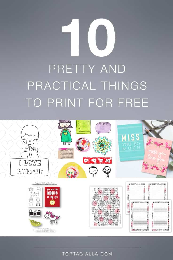 Looking for pretty and practical things you can print for free? Look no further than the amazing world of digital printables.