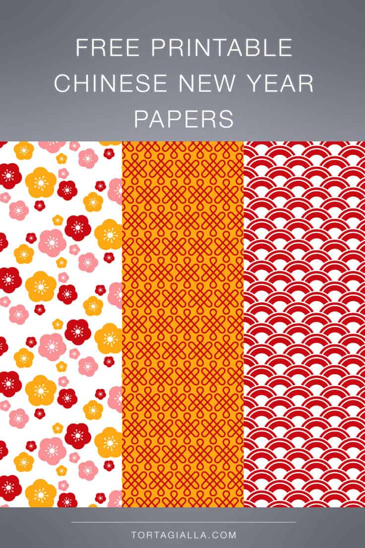 Download these free printable Chinese New Year Year pattern papers.