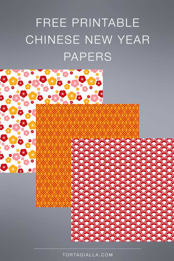 Use these free printable Chinese New Year themed papers for your next project!