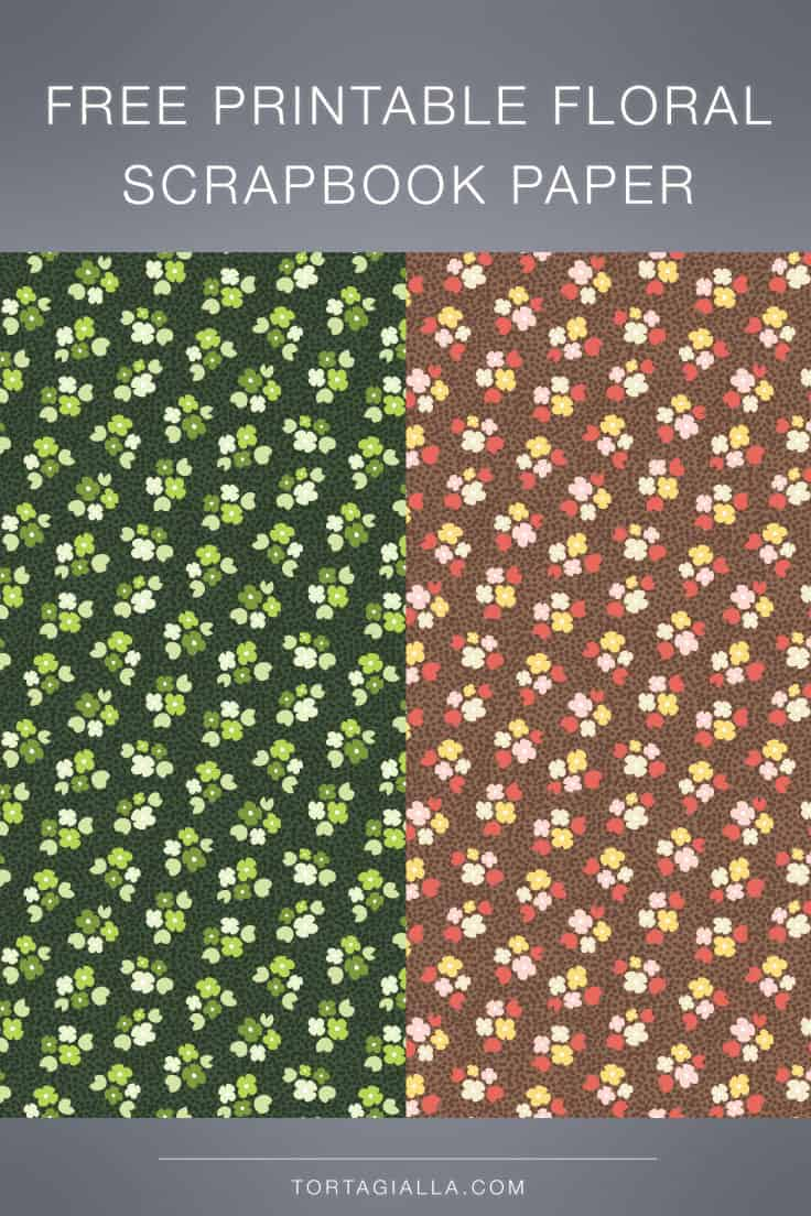 Download these free printable floral scrapbook paper designs for your next digital or hybrid papercrafting project.
