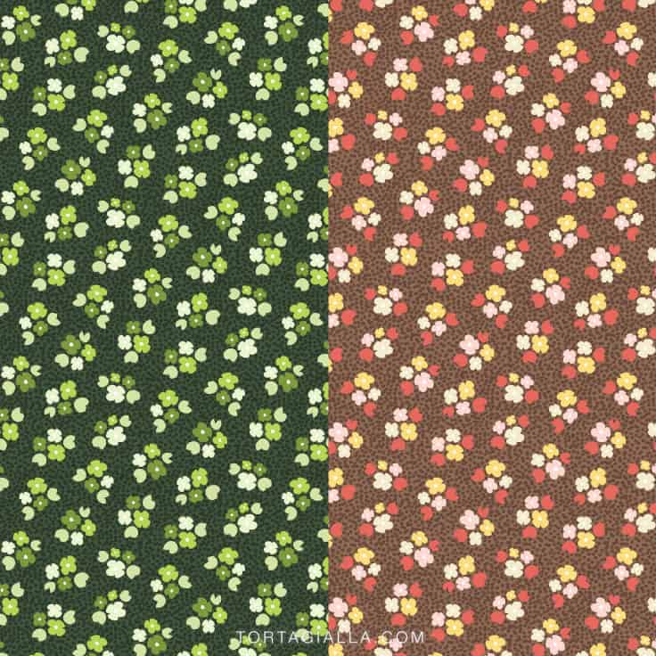 Download these two floral papers for free on tortagialla.com
