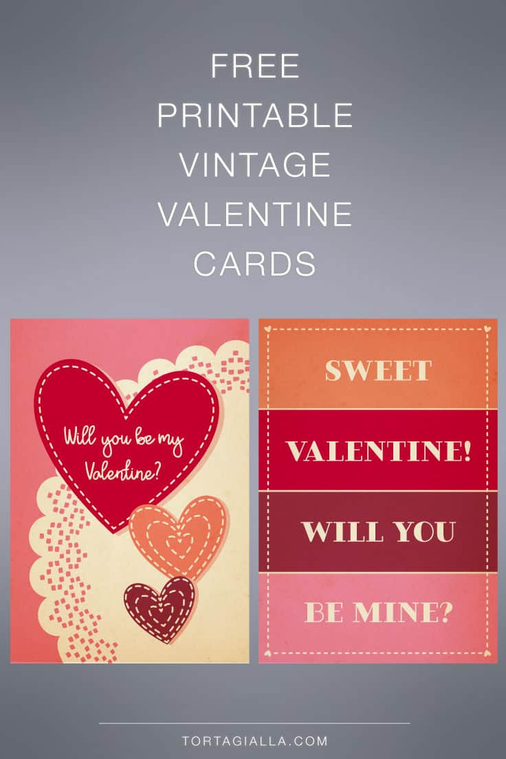 Download these free printable vintage valentine cards on tortagialla.com