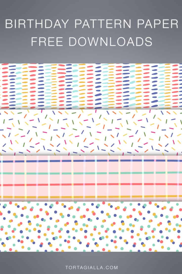 Looking for some freebie birthday pattern paper to print yourself? Download these digital papers for gift wrapping and papercrafting!