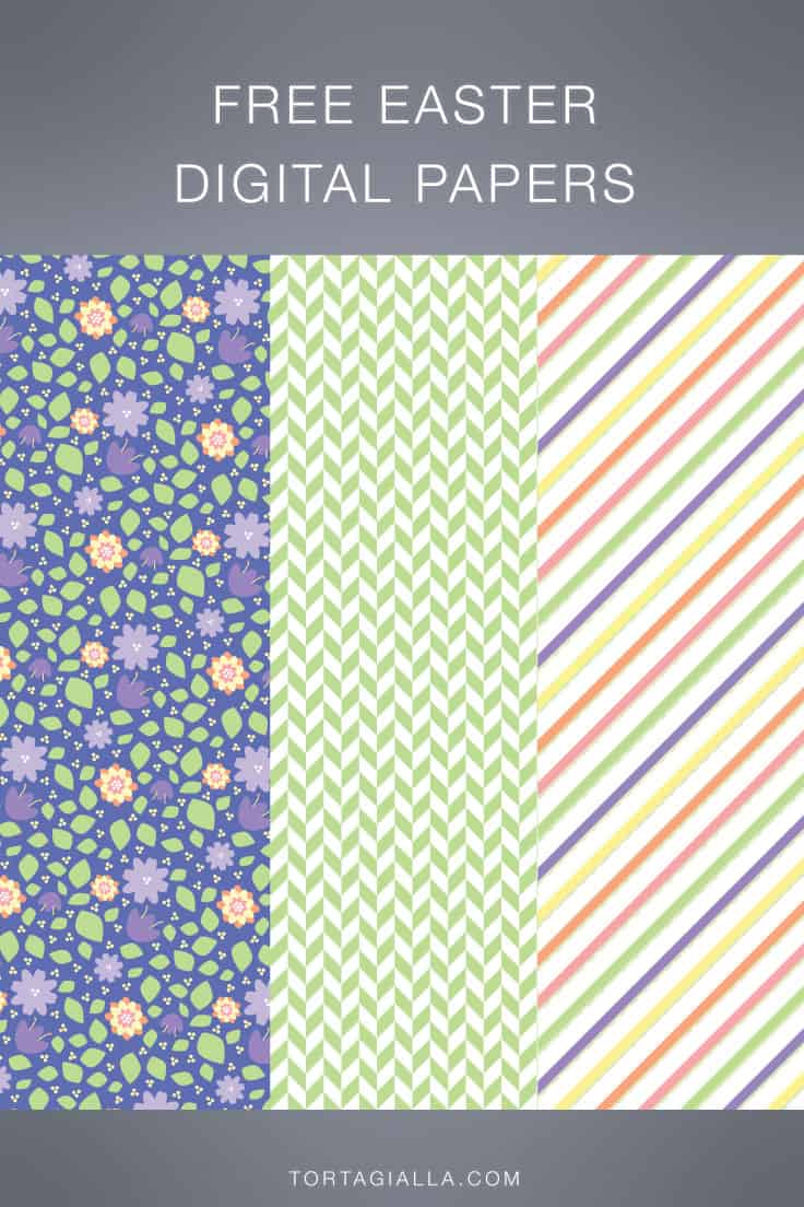 Download these free eater digital papers to print at home or for digital scrapbooking!