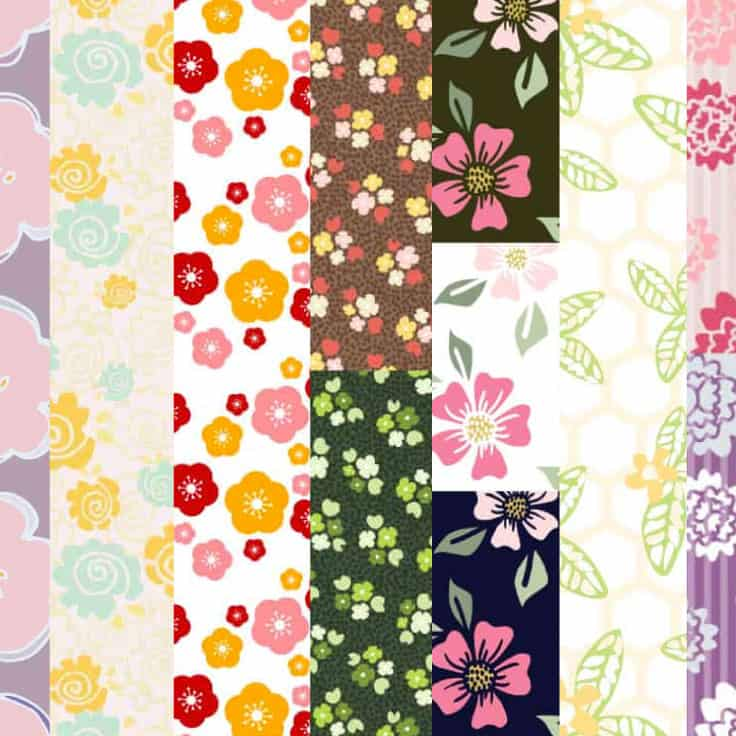 Download all these free printable floral pattern papers for papercrafting, journaling, planner decoration and more!