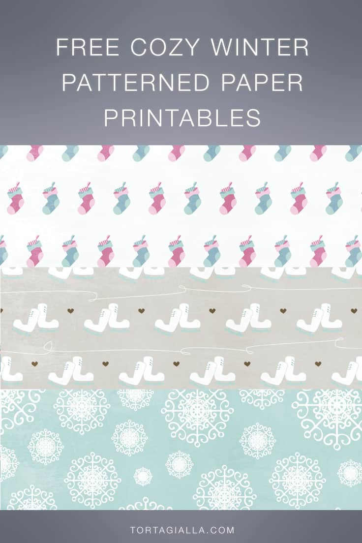 Looking for some cute free cozy winter patterned paper printables? Check out these digital papers to download instantly for free!