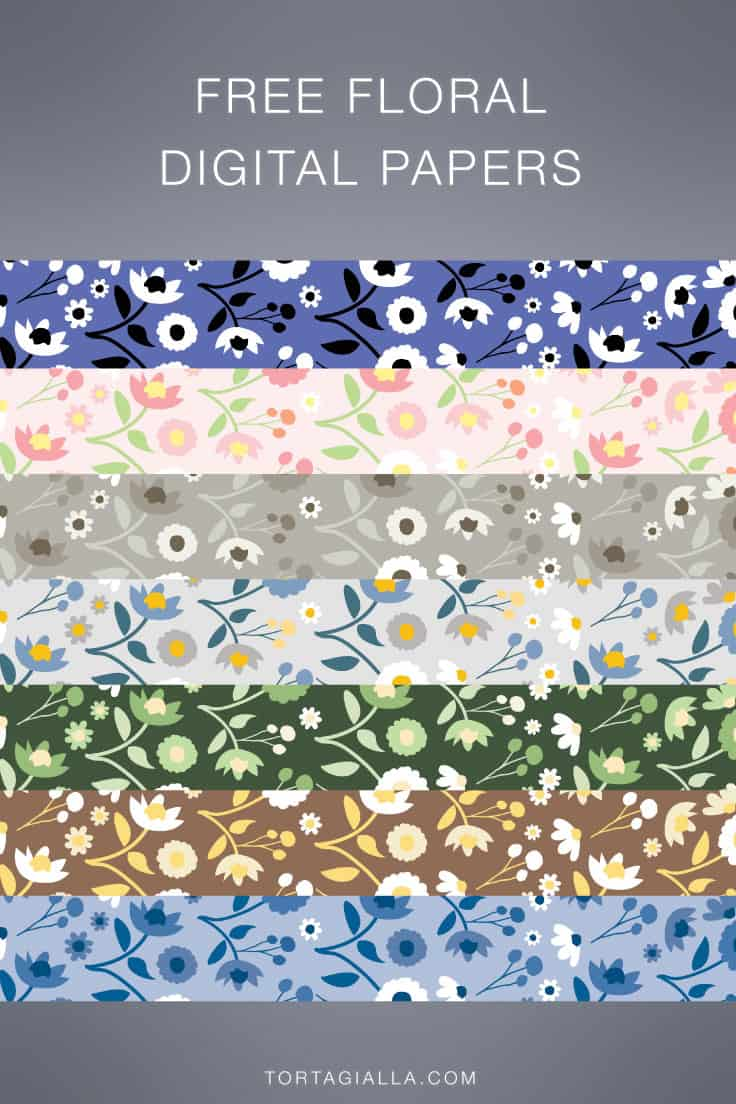 Download all of these free floral digital paper designs for scrapbooking, art journaling, planner decor and all kinds of papercrafting fun!