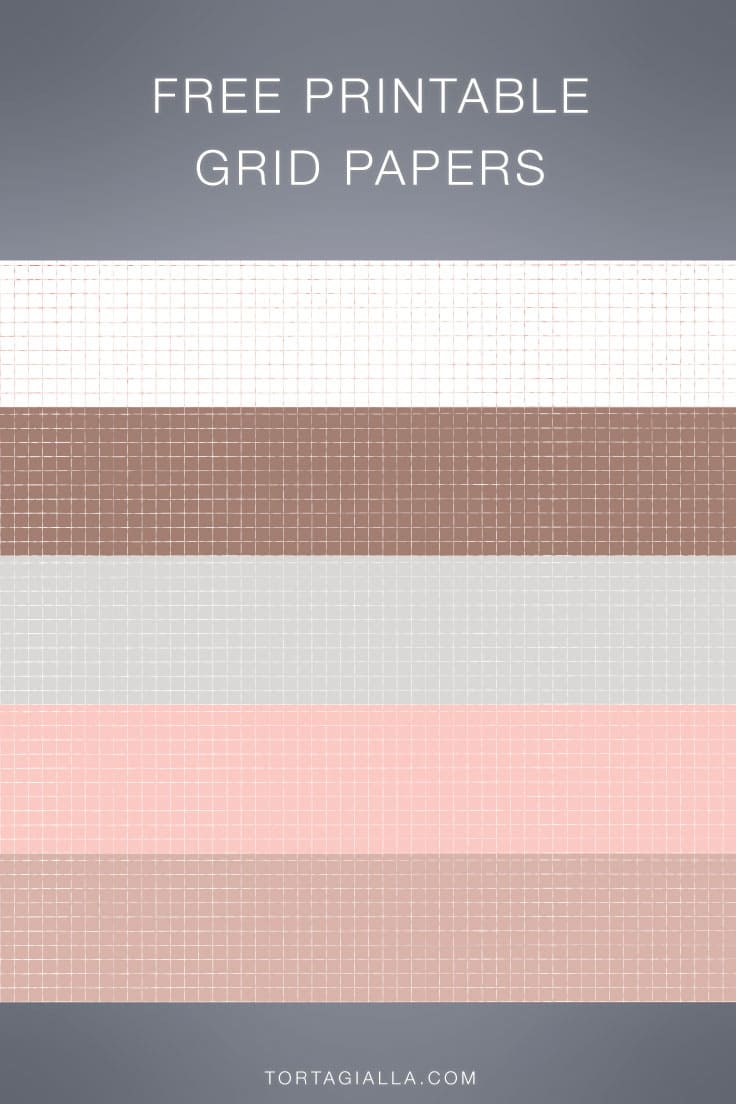 Download all these free printable grid papers for journaling and planner decor, with multiple aesthetic neutral colors to choose from!