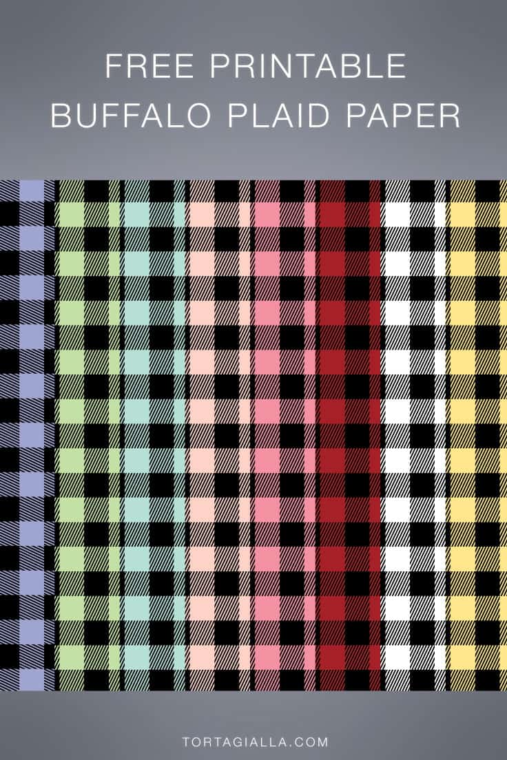 Classic red and white variations plus a whole palette of light pastel colors to choose from, download these printable buffalo plaid papers.
