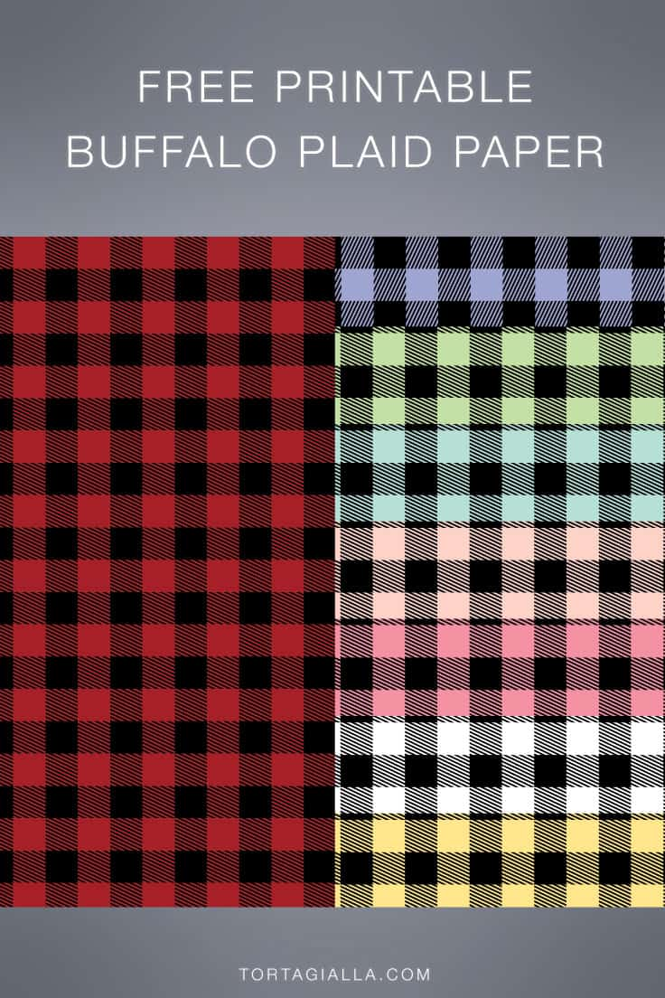 Check out this full set of Free Printable Buffalo Plaid Papers - perfect background papers for a variety of papercrafting projects.