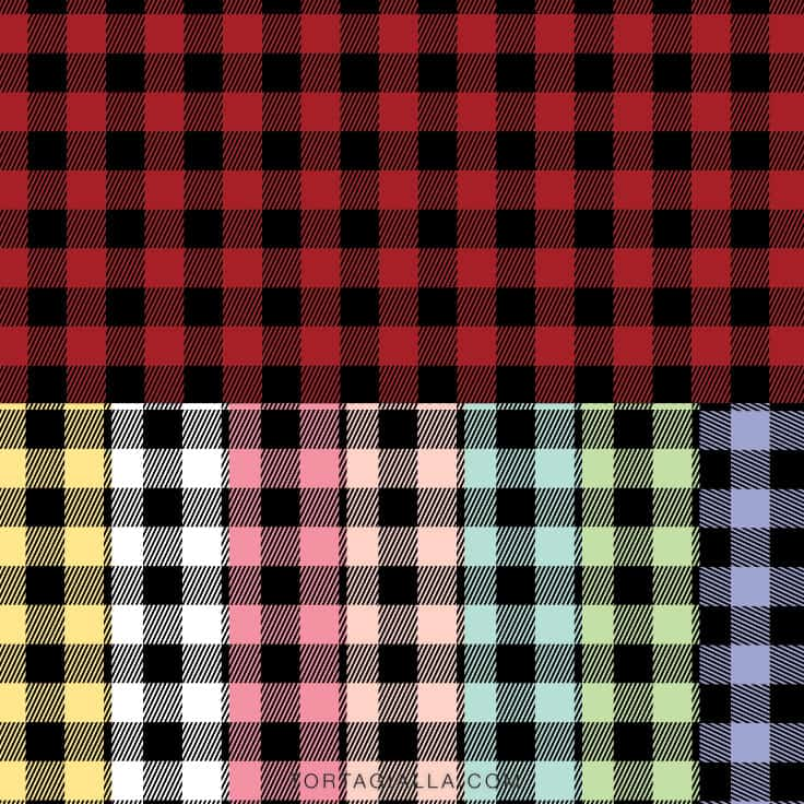 Download this whole set of buffalo plaid pattern papers on tortagialla.com