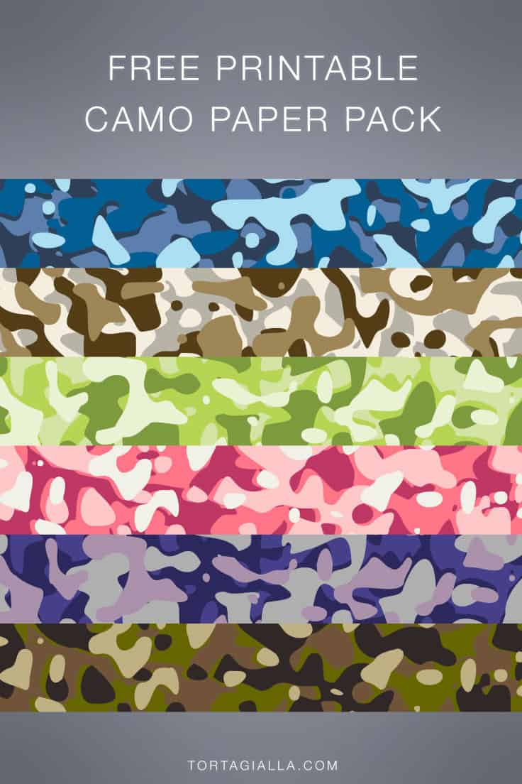 Looking for free printable camo paper designs? Check out this free pack for all your papercrafting projects!