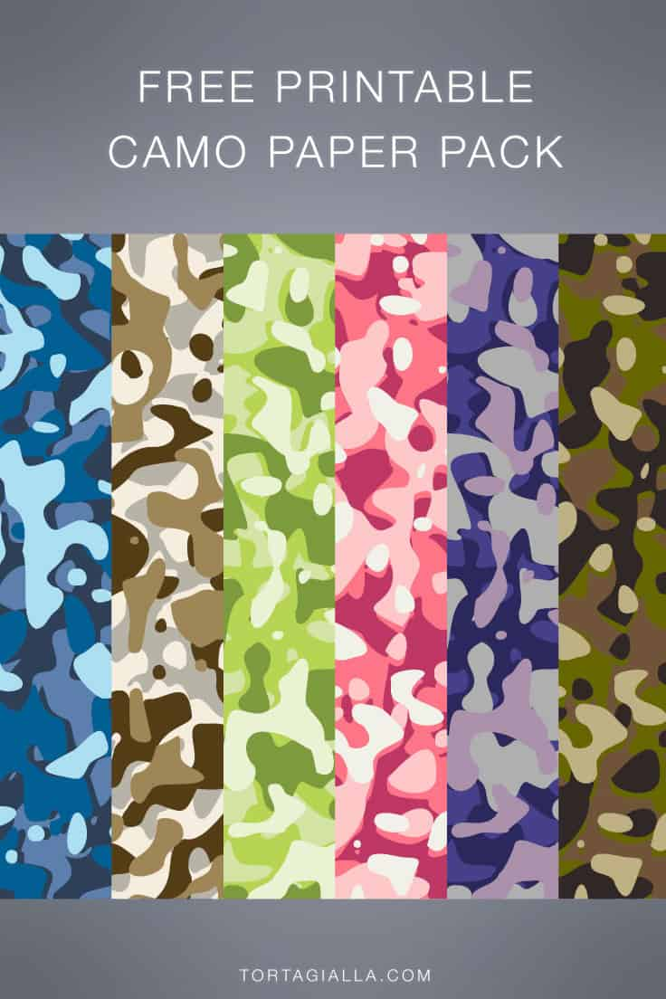 Camouflage Pattern Paper Design - Free Download