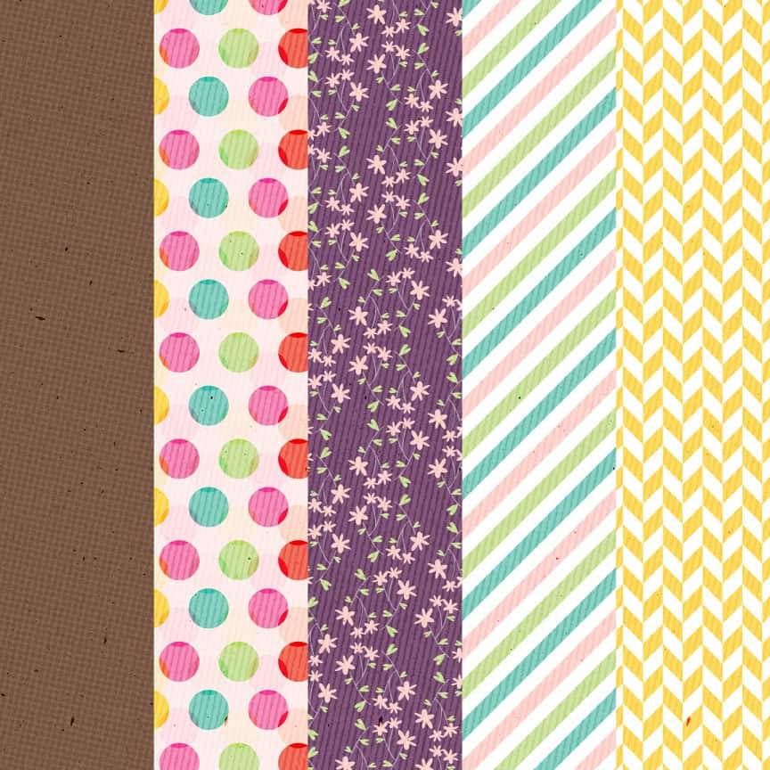 Preview of Tortagialla digital paper freebies after signing up for newsletter.